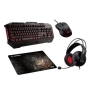 Asus CERBERUS Gaming Bundle -  Keyboard, Headset, Mouse & Mouse Pad Included, Soft Bundle