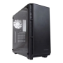Antec P8 ATX Gaming Case with Window, No PSU, Tempered Glass, 3 x White LED Fans, Black