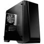 Antec P6 Gaming Case with Window, Micro ATX, No PSU, Tempered Glass, LED Fan, Black