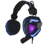 Sandberg (125-78) Cyclone Gaming Headset, 40mm Driver, Boom Mic, Multi-LED Lights, Black & Blue, 5 Year Warranty