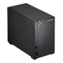 ASUSTOR AS1002T V2 2-Bay NAS Enclosure (No Drives), Dual Core 1.6GHz CPU, 512MB, USB3, GB LAN, Diamond-Plate Finish