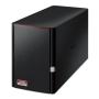 Buffalo 8TB LinkStation 520 NAS Drive, (2 x 4TB), RAID 0/1, GB LAN, NovaBACKUP & BitTorrent, USB3, Control Features