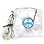 Antec TriCool 8cm Clear Case Fan, 3 Speed, 3-pin with 4-pin Adapter