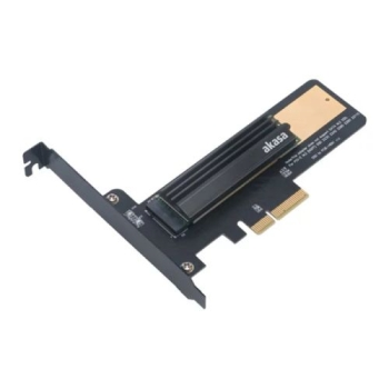 Akasa M.2 SSD to PCIe Adapter Card with Heatsink Cooler, Low Profile Bracket
